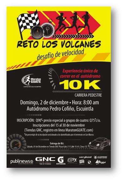 reto los volcanes 2012 2013 2013 maratonguate organizacion evento