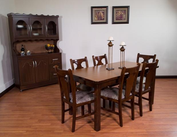 Guatemala muebles primiun productos comedores muebles for Comedor de madera 6 sillas precios